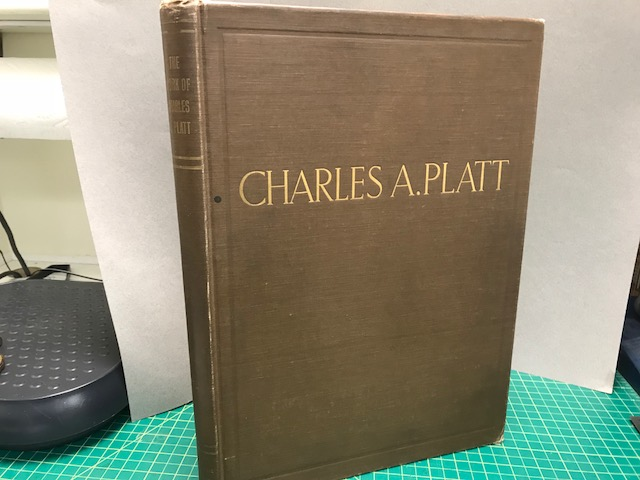 Image for MONOGRAPH OF THE WORK OF CHARLE A. PLATT