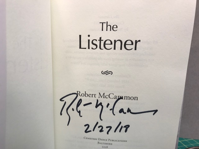 Image for THE LISTENER (signed & dated)