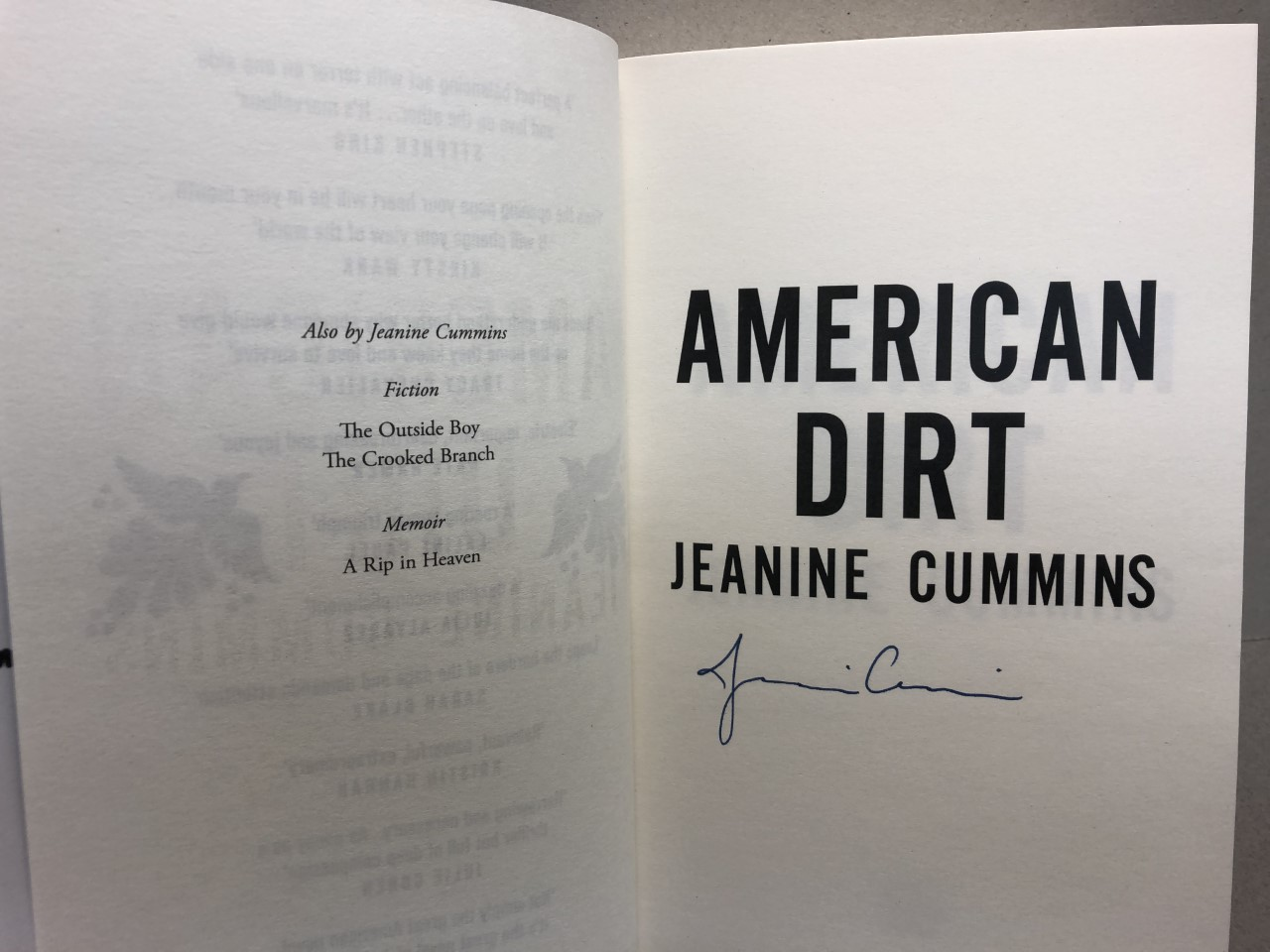 Image for AMERICAN DIRT  ( signed )