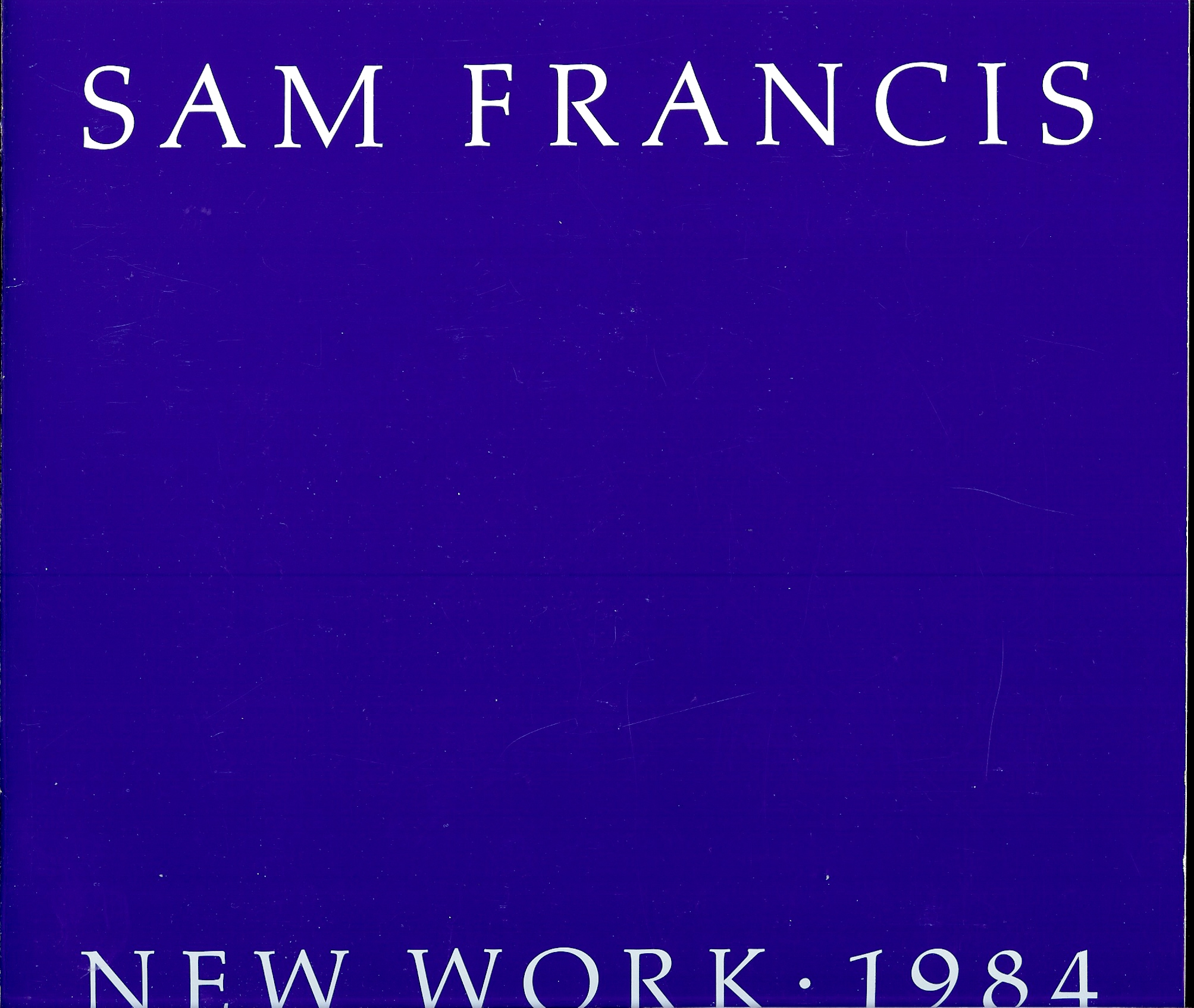 Image for SAM FRANCIS : New York 1984