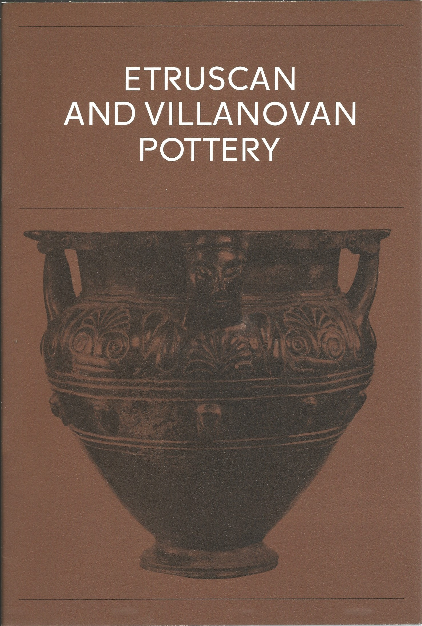 Image for ETRUSCAN AND VILLANOVAN POTTERY