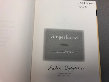 Image for Gingerbread: A Novel ( signed & dated)