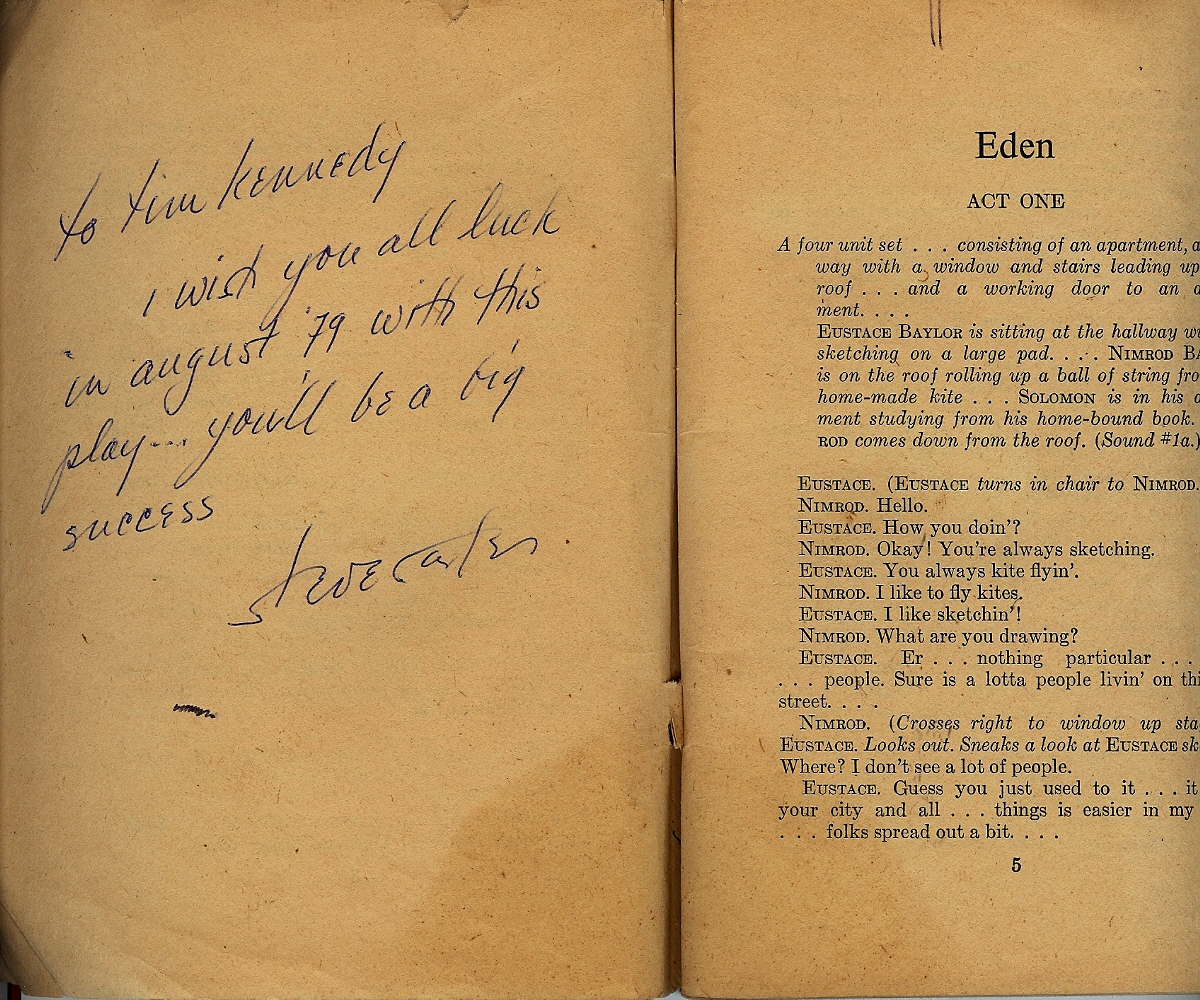 Image for Eden: A Drama in Three Acts ( signed )