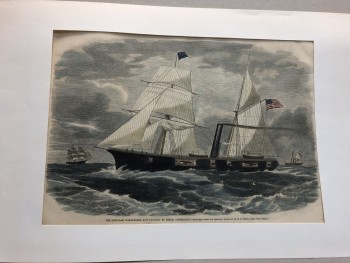 Image for THE IRON-CLAD WAR-STEAMER NOW BUILDING AT MYSTIC CONNECTICUT
