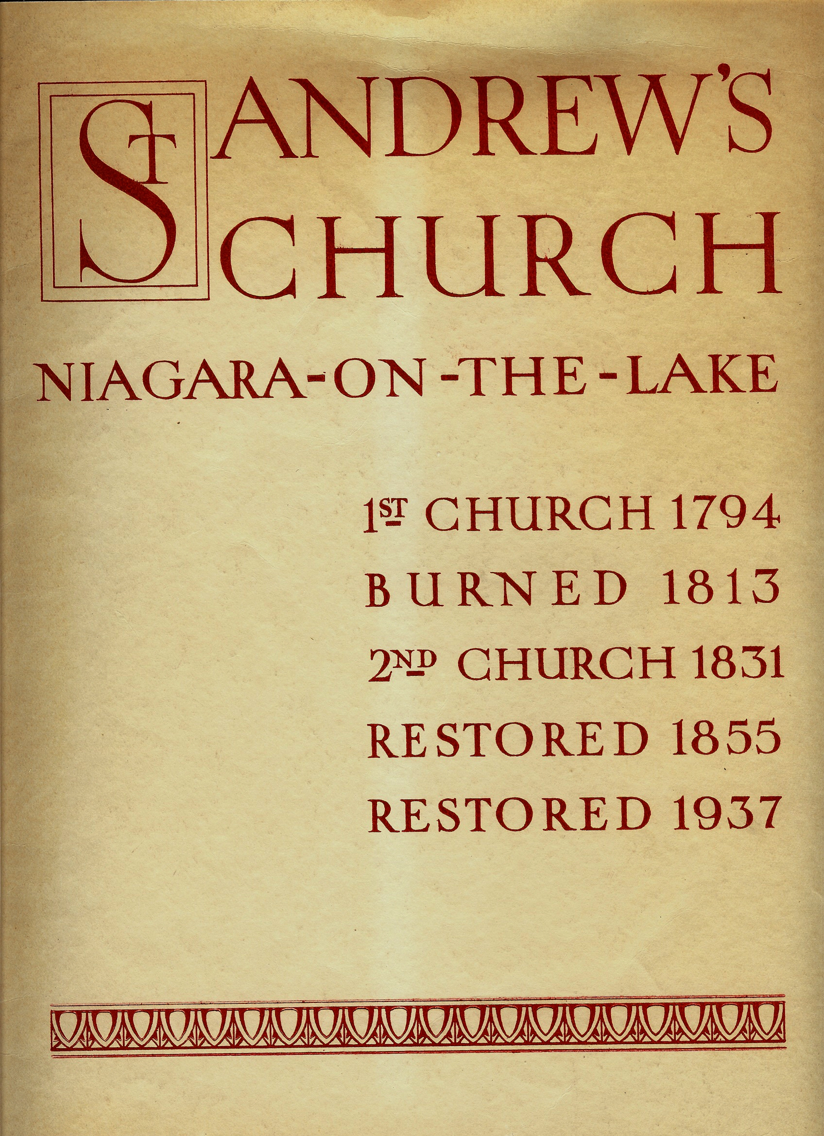 Image for ST. ANDREW'S CHURCH : Niagara - On - The - Lake