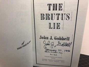 Image for THE BRUTUS LIE (signed)