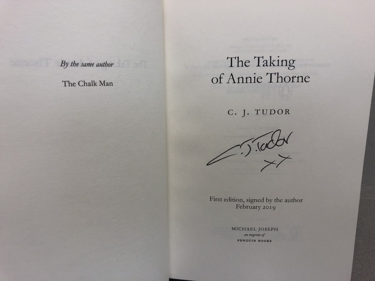 Image for THE TAKING OF ANNIE THORNE ( signed )