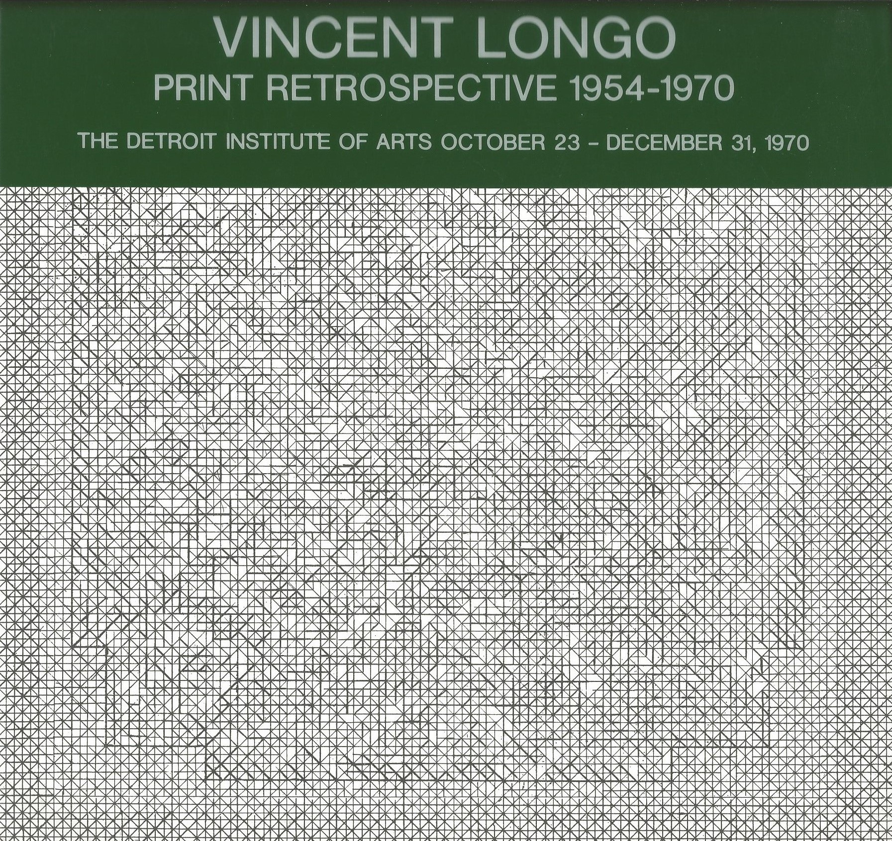 Image for VINCENT LONGO : Print Retrospective 1954 - 1970
