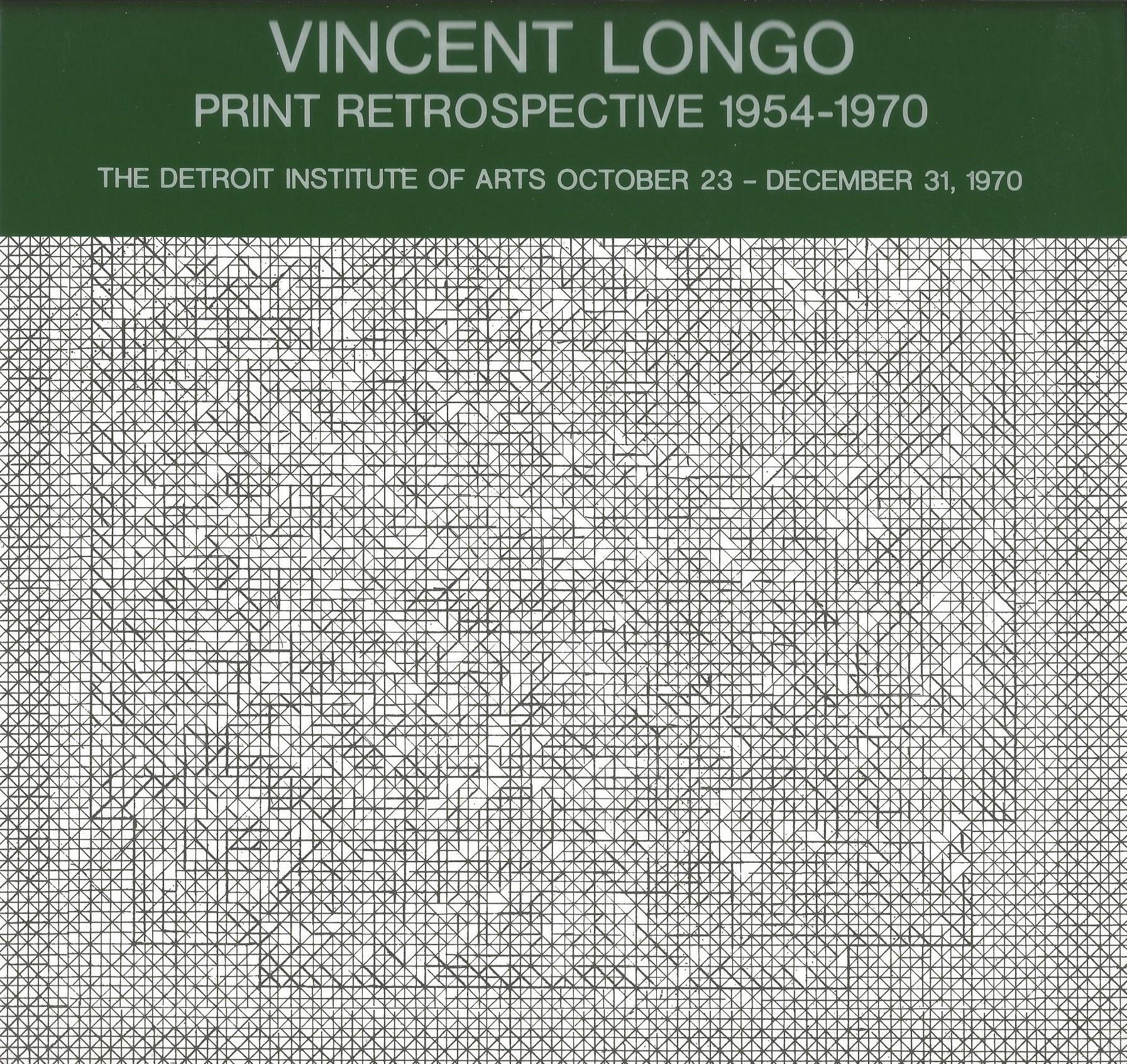 VINCENT LONGO : Print Retrospective 1954 - 1970